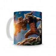 Caneca Artgeek Guardiões Da Galáxia Groot e Rocket