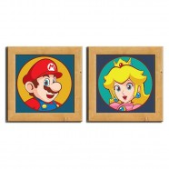 Kit Pôster Chassi Mario And Peach - Artgeek