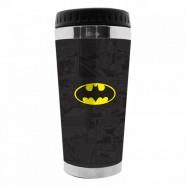 Copo Artgeek Térmico Plástico Dc Batman Logo Preto 5 X 8 X 17,5 Cm