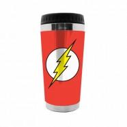 Copo Artgeek Térmico Plástico Dc The Flash Logo Fd Vermelho