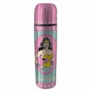Garrafa Térmica Aço Inox pp Dc Wonder Woman Rosa 6,8 x 25,5 - Artgeek