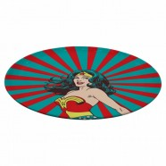 Prato Giratório Melamine DC Wonder Woman Rising Sun - Artgeek