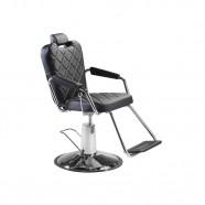 Imagem - Cadeira para Salão e Barbeiro Dompel Reclinável Preta Plus cód: MKP000263000008