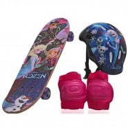 Skate Infantil Frozen Menina com Proteção DM Toys 9115d04f635