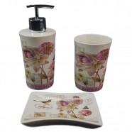 Kit para Banheiro em Porcelana Branco Lombart Paris Amigold