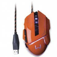 Imagem - Mouse Gamer 3200 DPI Laranja USB Warrior MO263 cód: MKP000278002790