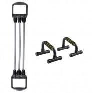 Imagem - Combo Esportes Expansor com Apoio para Flexão Fitness cód: MKP000278006203