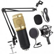 Kit Microfone BM800 + Pop Filter + Aranha + Braço Articulado