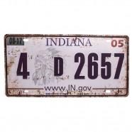Imagem - Placa De Carro Antiga Decorativa Metálica Vintage Indiana Gt414-27 - Lorben cód: MKP000301000882