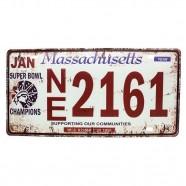 Imagem - Placa De Carro Antiga Decorativa Metálica Vintage Massachusetts Gt414-32 - Lorben cód: MKP000301000889