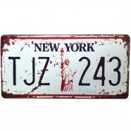 Imagem - Placa De Carro Antiga Decorativa Metálica Vintage New York Gt414-15 - Lorben cód: MKP000301000897