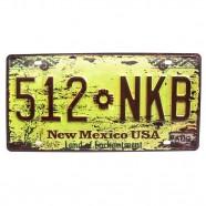 Imagem - Placa De Carro Antiga Decorativa Metálica Vintage New México Gt414-36 - Lorben cód: MKP000301000899