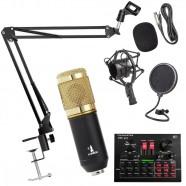 Imagem - Kit Completo Microfone Bm800 com Mini Placa V8x Live Sound cód: MKP000301001443