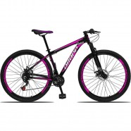 Imagem - Bicicleta Quadro Alumínio 21 Marchas Freio a Disco Preto cód: MKP000303002770