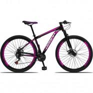 Imagem - Bicicleta Quadro Alumínio 21 Marchas Freio a Disco Preto cód: MKP000303002771