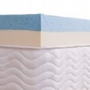 Pillow Top Visco Nasa Gel + Látex HR Foam Solteiro - Aumar