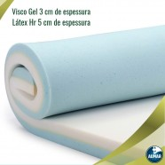 Pillow Top Visco Nasa Gel + Látex HRFoam Casal8cm Aumar