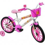Bicicleta Infantil Feminina Aro 16 Polikids Branca