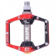 Imagem - Pedal Eixo Cromo Molibdenio Preto e Vermelho - Kapa Bikes cód: MKP000368000384