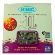 Imagem - Corrente KMC 116 X10L Prata Index Semi-vazada 10.v cód: MKP000368001003