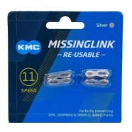 Imagem - Emenda para Corrente Kmc 11 Velocidades Cl5595r Prata cód: MKP000368001470