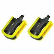Imagem - Pedal Nylon Rosca Fina 1/2 Bicolor Metalciclo Preto Amarelo cód: MKP000368001781