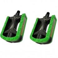 Imagem - Pedal Nylon Rosca Grossa 9/16 Bicolor Metalciclo Preto Verde cód: MKP000368001795