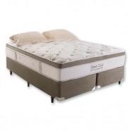 Imagem - Cama Box + Colchão Casal King Size Monte Carlo Imperatore Visco Hr Herval 193x203x61 cód: MKP000374000399