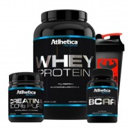 Kit Whey Chocolate + Bcaa + Creatina + Coq - Atlhetica Nutrition
