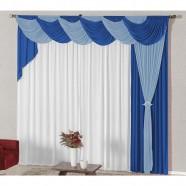Cortina para Sala 4,00m X 2,60m com Abraçadeiras Azul