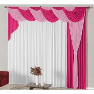 Cortina para Sala 4,00m X 2,60m com Abraçadeiras Pink