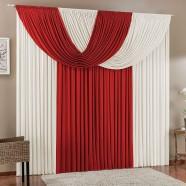 Cortina para Sala 4,00m x 2,80m Suellen Malha Vermelho