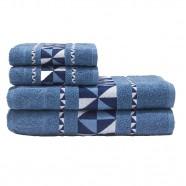 Jogo de Banho Eros 4P Jacquard 100% Algodão Azul Dianneli
