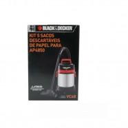Kit 5 Sacos Descartáveis para Aspirador AP4850 VC48 - Black+Decker