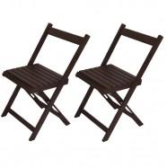 Conjunto 2 Cadeiras Dobrável Entalharte Ref 010