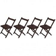 Conjunto 4 Cadeiras Dobrável Entalharte Ref 020