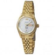 92f22cba9b1 Relógio Orient Feminino Automático Dourado Fundo Prata