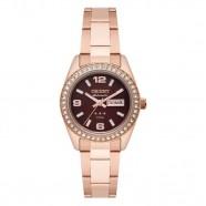 ae5c70e4209 Relógio Orient Feminino Automático Rose Fundo Marrom Pedras