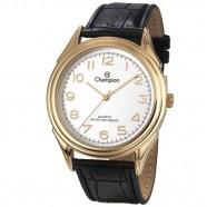 Relógio Champion Masculino Dourado Pulseira Couro CH22804B