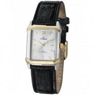 20c0dc2fe1e Relógio Champion Prata Quadrado com Dourado Couro CH22751S