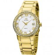 Relógio Feminino Dourado Ana Hickmann Com Pedras Ah28562h