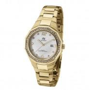 Relógio Feminino Dourado Ana Hickmann Analógico com Pedras
