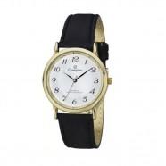 Relógio Feminino Dourado Champion Couro Preto CH22288M
