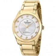 c44c7ff838a Relógio Feminino Dourado Fundo Prata Champion CH24759H
