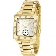 Relógio Feminino Quadrado Ana Hickmann Dourado com Pedras
