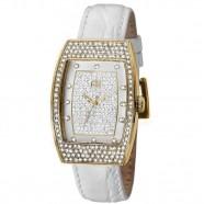 Relógio Feminino Quad. Ana Hickmann Dourado Crav. c/ Pedras