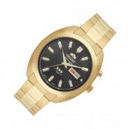 0dffccb4957 Relógio Masculino Dourado Orient Automático Fundo Preto
