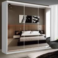 Imagem - Guarda Roupa Casal com Espelho 3 Portas de Correr Isabela Siena Móveis Branco cód: MKP000628002529