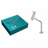 Imagem - Kit Cuba Q39 Com Torneira Pratika 1060 Metal 1/4 Volta cód: MKP000628075529