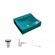 Imagem - Kit Cuba com Válvula 1 Pol. Sifão Pvc e Flexível Compace cód: MKP000628076082